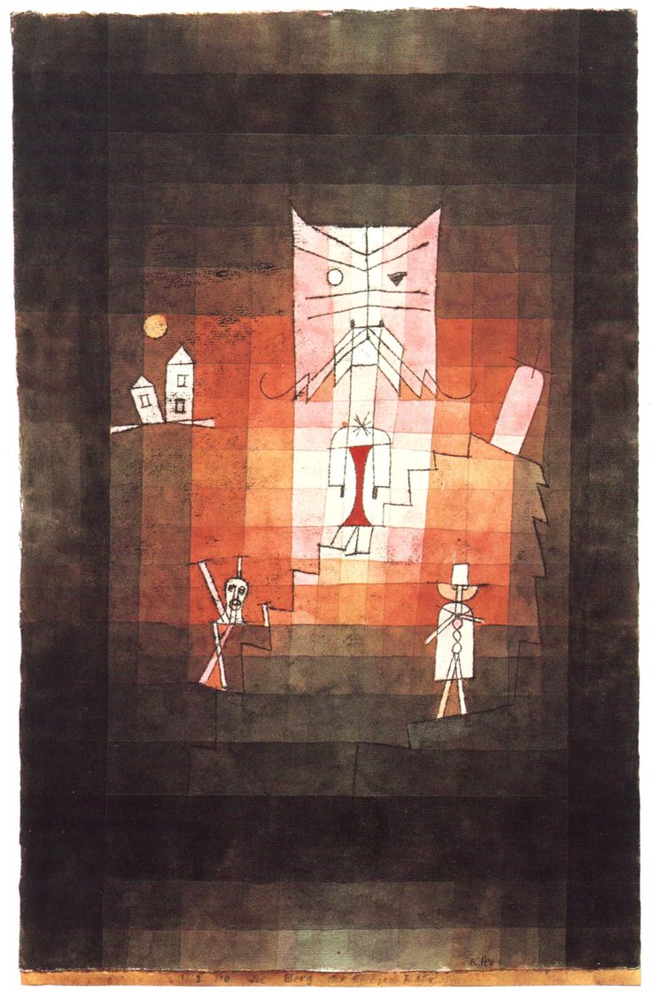 Paul Klee - Mountain of the Sacred Cat