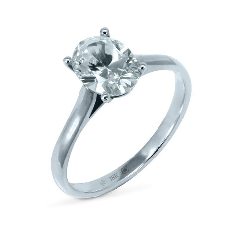 Oval Love Note Solitaire