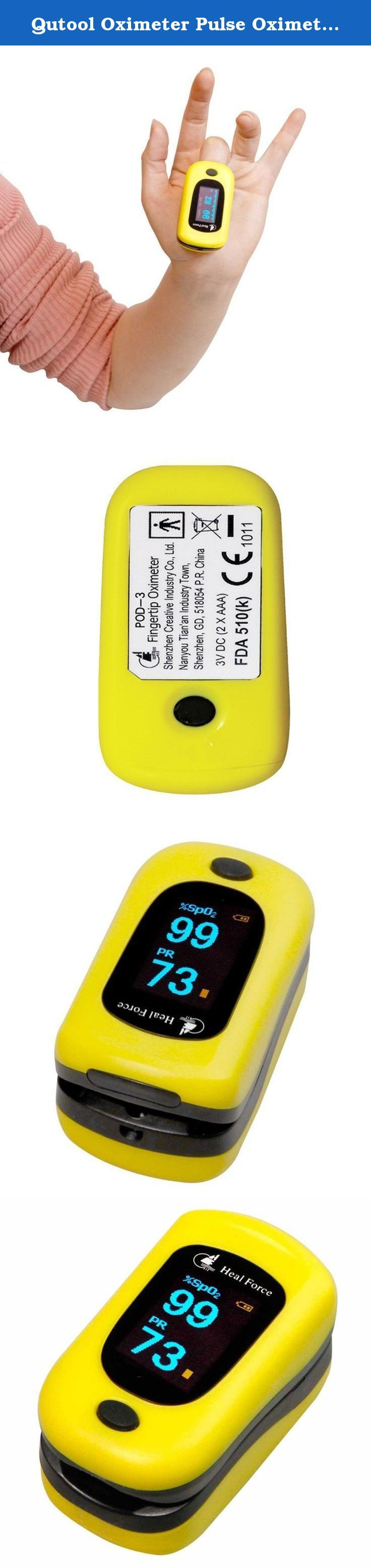 "Qutool Oximeter Pulse Oximeter Blood Oxygen Saturation Monitor. Technical Specifications: Display Screen: 0.95"" color OLED Multi-direction Display: 4 directions Measuring range(SPO2): 35-99% Pulse Rate (PR): 30bpm-240bpm Perfusion Index(PI): 0-20% Accuracy: ±2bpm or ±2%(which is greater) Operating Temperature: 5 degrees-40 degrees Operating humidity : 30%-80% Atmospheric pressure: 70kPa-106kPa Power Supply: 2*AAA alkaline battery Continuous working time if new battery: about 30hours…"