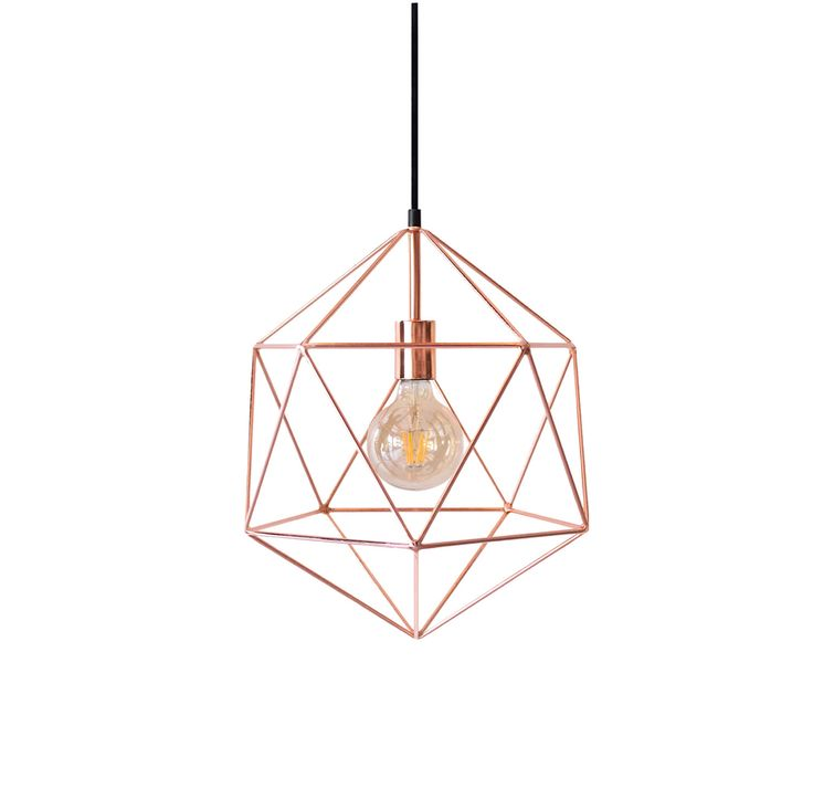 Copper Polyhedron Geometric Pendant Light By LightingAlchemy Add A Luxury Minimal Touch In Your Space