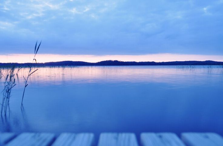 View from the mooring at the summer house, somewhere in Finland.