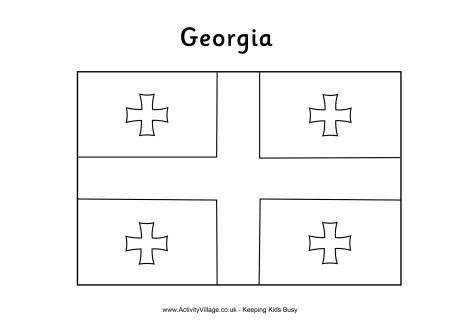 Georgia colouring flag