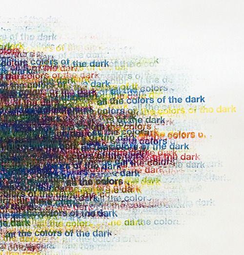 Alexander Gutke  Subtraktion(detail)  2007  ongoing series  ink stamp on paper  170 x 150cm