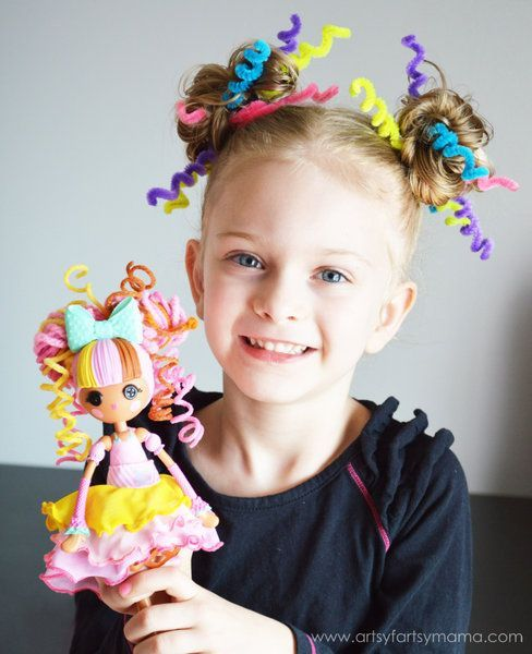 Crazy Hair Day with Lalaloopsy Girls at artsyfartsymama.com #CrazyHairDay