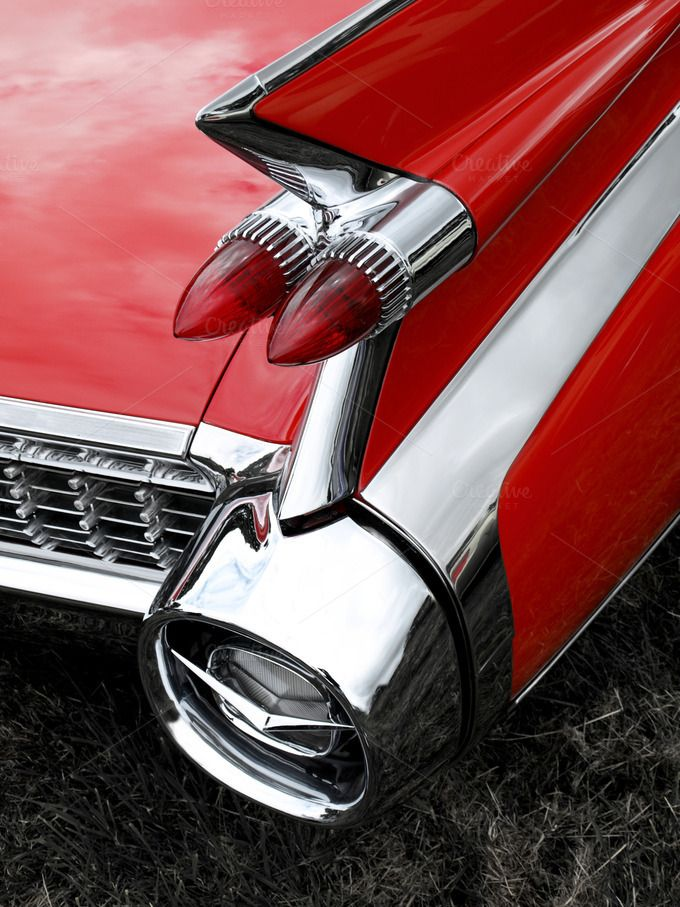 Check out Classic Car Tail Fin and Light by Wing's Art and Design on Creative Market