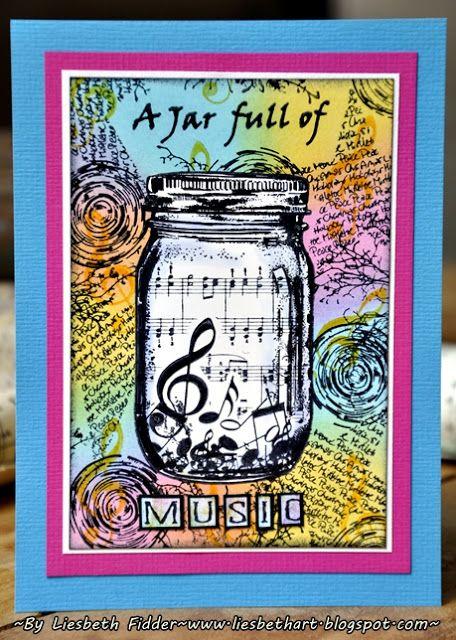 Liesbeth's Arts & Crafts: Art Journey Challenge juni: Music !