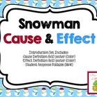 Snowman cause and effect posters for explaining the concept to primary grades. This set includes:  -Cause Definition 8x10 Poster (Color)  -Effect D...