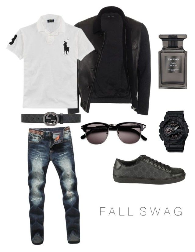 """""""Fall Swag 1"""" by klasikmimi on Polyvore featuring Gucci, Ralph Lauren, G-Shock, Tom Ford, men's fashion and menswear"""