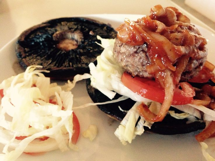 Portobello Mushroom Beef Burger