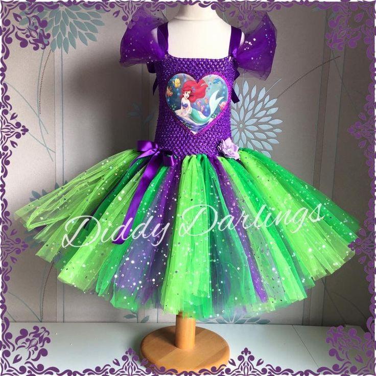 Sparkly Ariel Tutu Dress Little Mermaid Tutu Dress Costume Party Princess Fancy #DiddyDarlings #CasualFormalParty