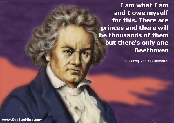 Beethoven quotes.