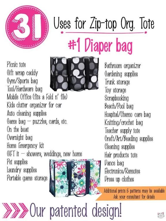 31 Uses for Thirty-One Zip-Top Organizing Utility Tote. #Carrie31Bags www.mythirtyone.com/MaylinBE