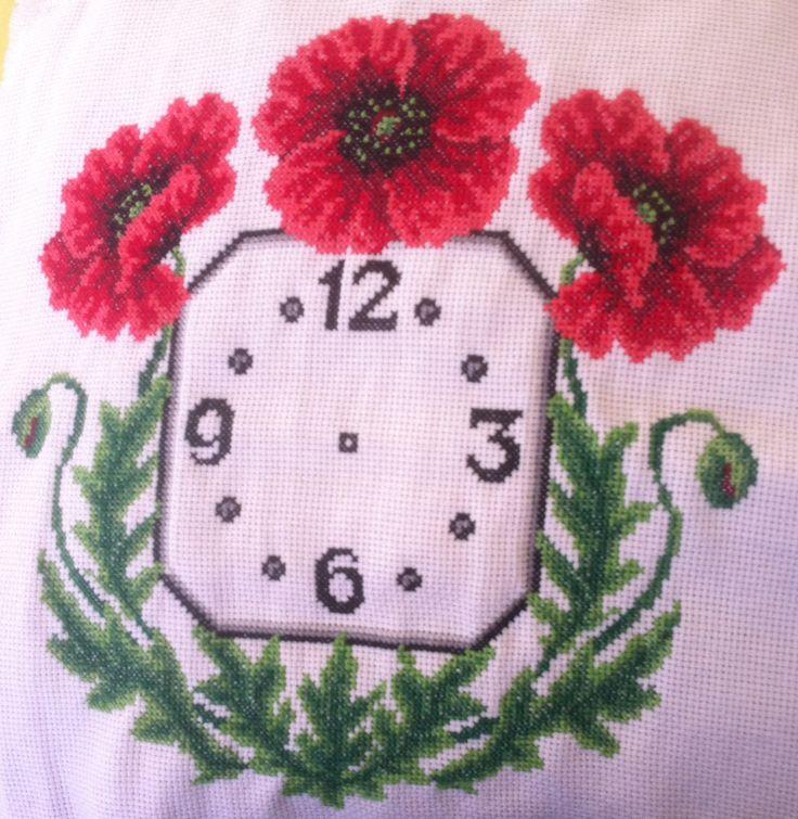 reloj amapolas