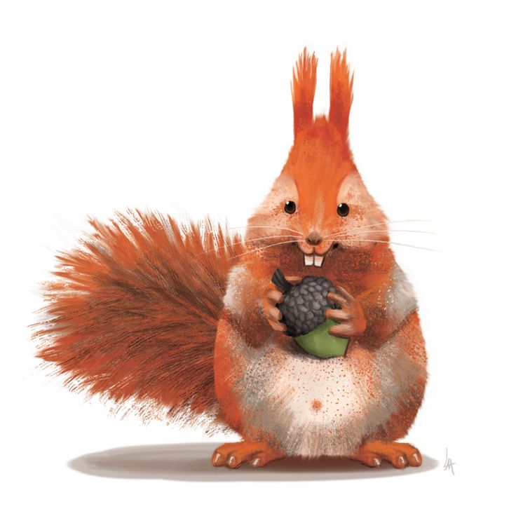 A squirrel and his nut by Lite-mike.deviantart.com on @DeviantArt