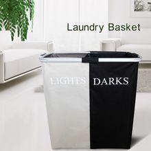 Preto + branco de lavagem de armazenamento de roupas cesto de roupa dobrável de alumínio alças(China (Mainland))