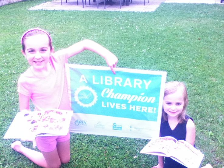 Three cheers for Breanna and Alyssa! We're so happy that we can add you to our list of Library Champions - you did it!  Great job!