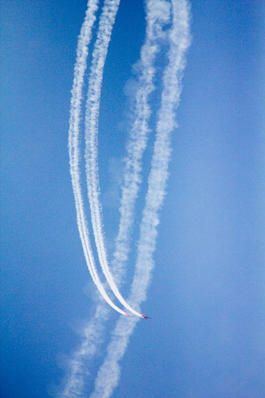 Widowiskowe akrobacje lotnicze