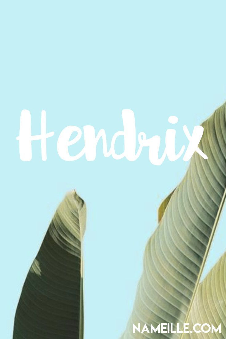 Hendrix I Cool & Unique Baby Names for Boys I Nameille.com