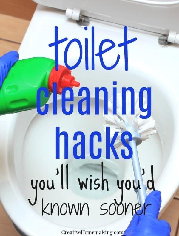 11 Time Saving Deep Cleaning Hacks Everyone Should Know In 2020 Toilet Cleaning Hacks Toilet Cleaning Bathroom Cleaning Hacks