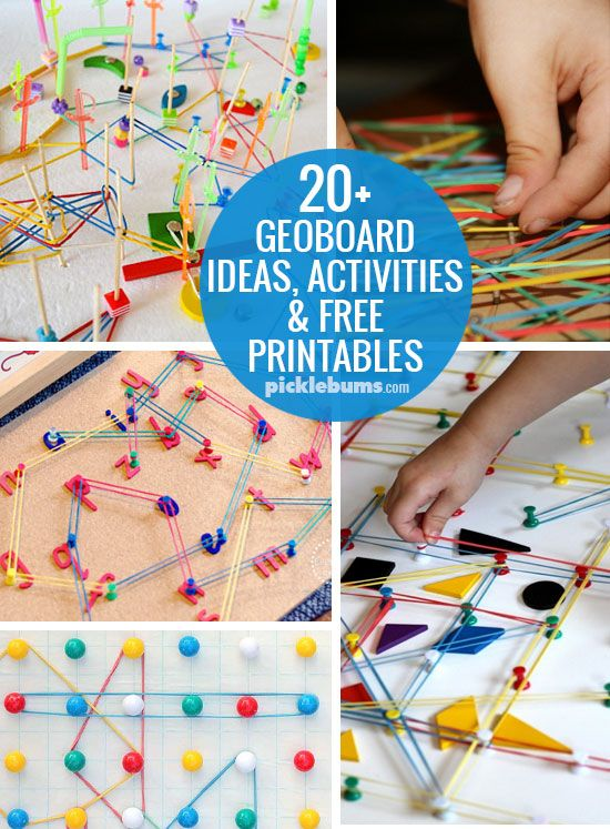 20+ Geoboard ideas, activities and free printables so you'll never run out of geoboard ideas!