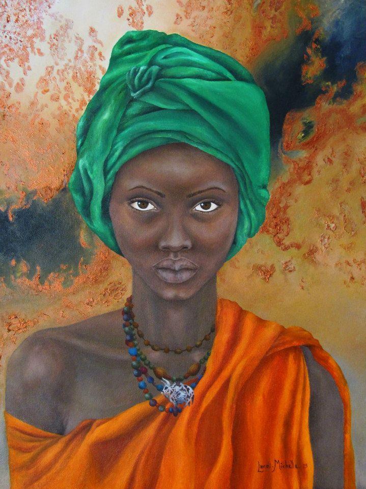 Her only wish, oil on canvas by Landi-Michelle van den Berg