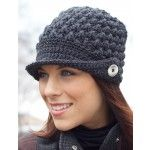 Women's Peaked Cap - Patterns | Yarnspirations