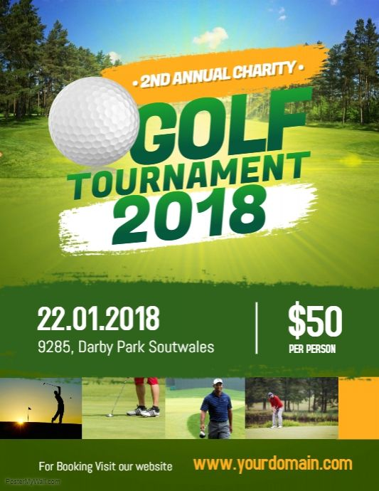 Charity Golf Tournament Flyer Poster | Sports Event Flyer Template