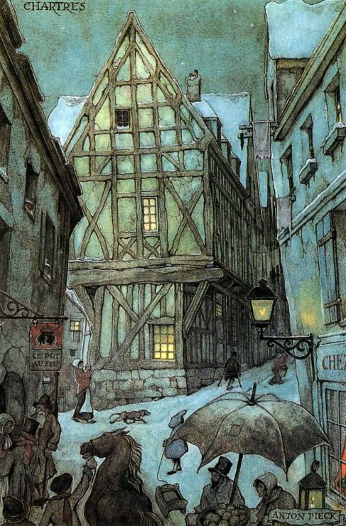 Anton Pieck, Dutch illustrator   ~ love his buildings