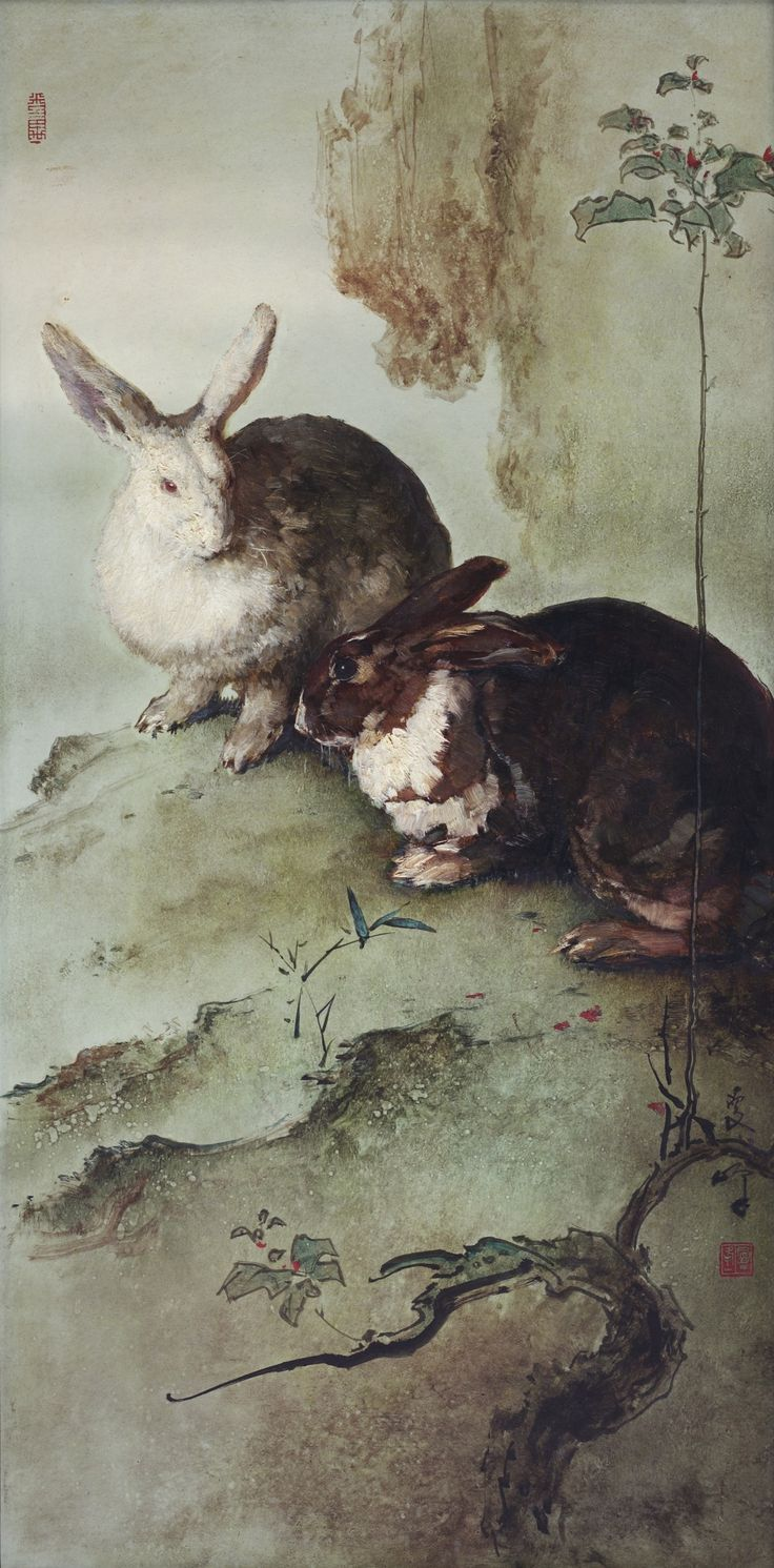 lee man fong two rabbits | animals | sotheby's hk0657lot962gcen