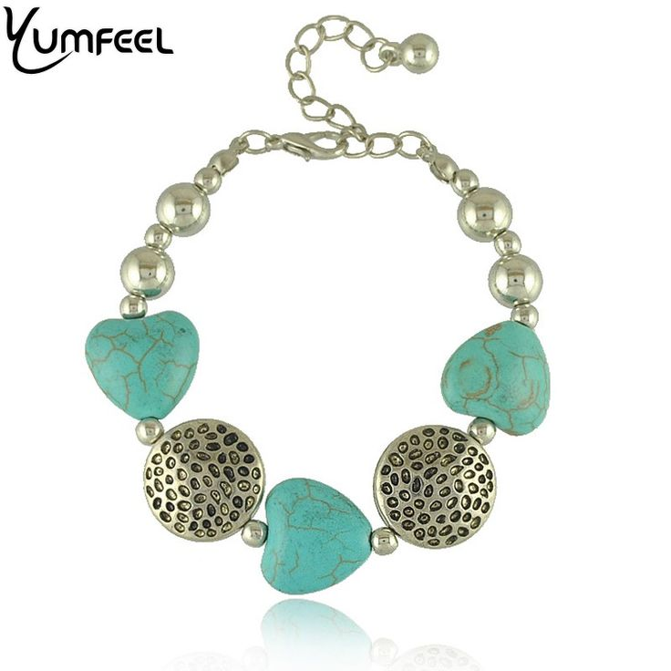 Find More Chain & Link Bracelets Information about Vintage Style Simple Fashion Hearts Shape Turquoise Beads Bracelets Wholesale Jewelry,High Quality jewelry supplies bracelet,China jewelry photo Suppliers, Cheap jewelry nautical from Yumfeel Wholesale (Mix Minimum Order USD10) on Aliexpress.com