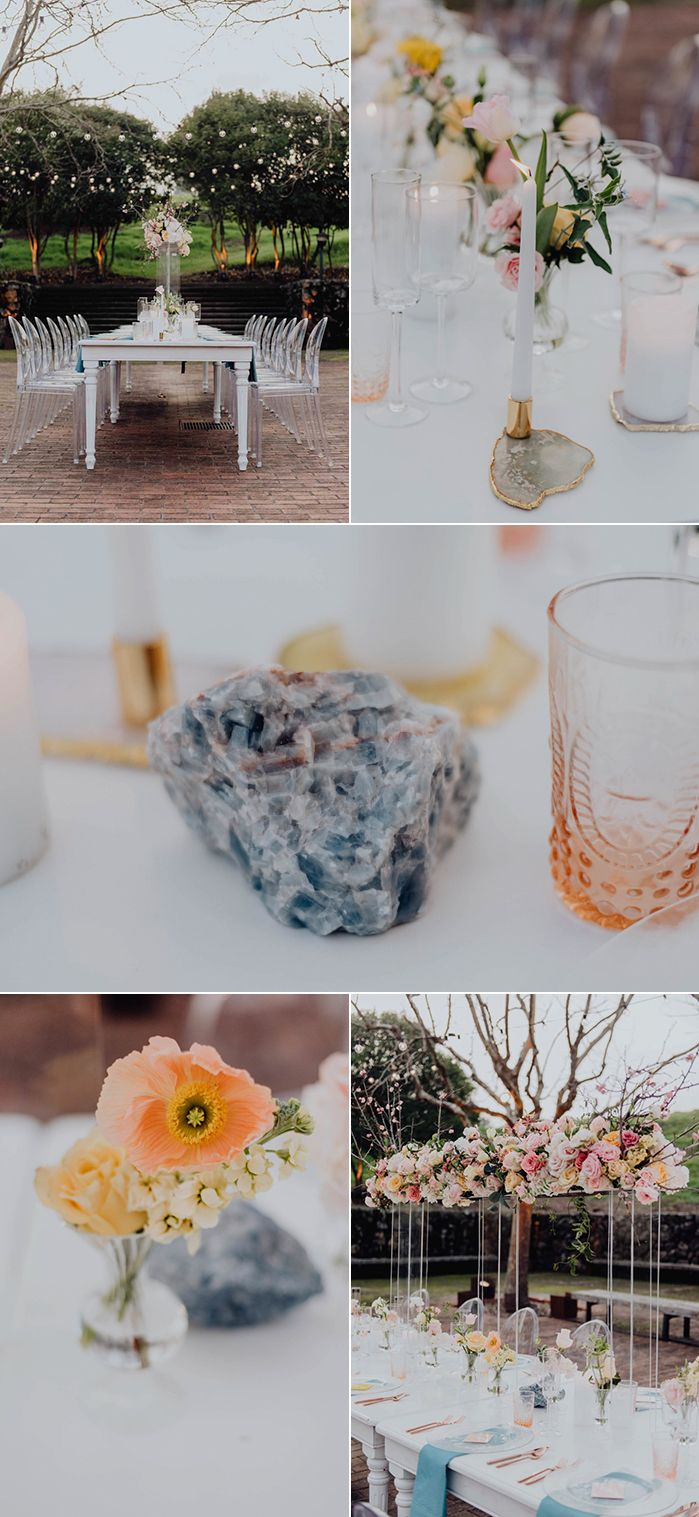 crystal inspired spring wedding inspiration at seminary at rh pinterest com