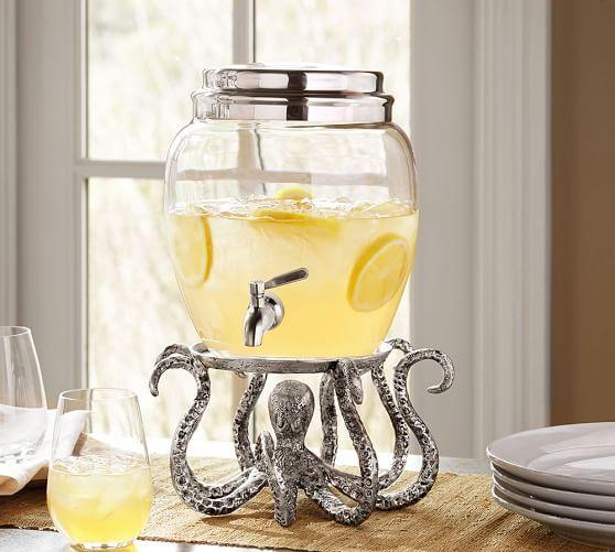 Octopus Drink Dispenser Stand | Pottery Barn