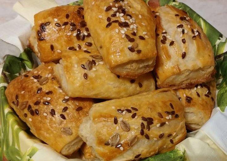 Bacon-ös - sonkás falatkák leveles tésztából