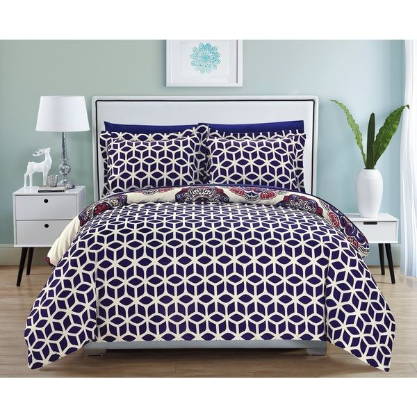 navy star duvet cover set toddler blue uk chic home piece