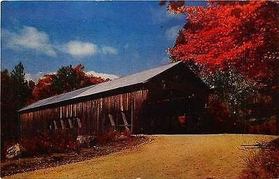Albany New Hampshire NH 1950 Swift River Covered Bridge Antique Vintage Postcard…