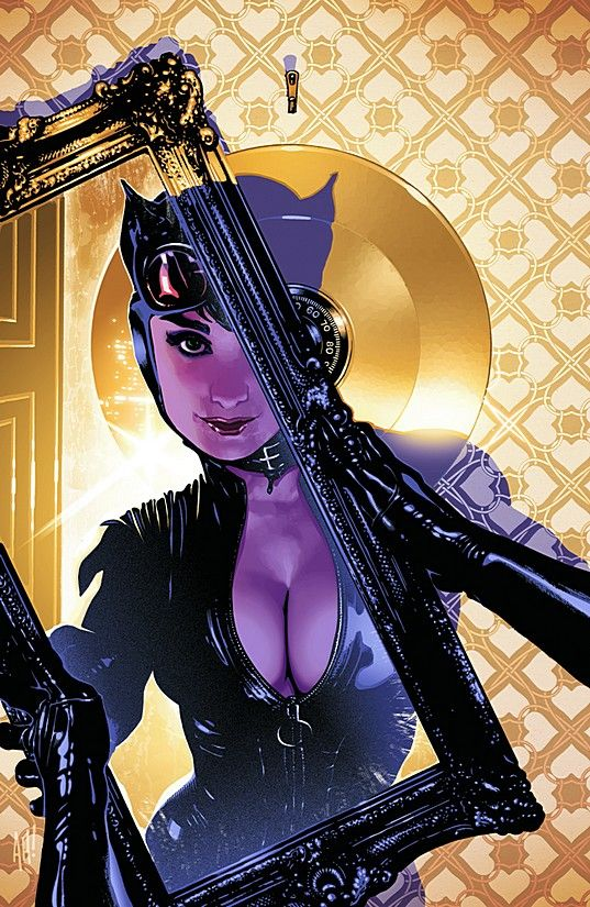CATWOMAN: CRIME PAYS TP Covers and Splashes by artist Adam Hughes. Comic Art Community GALLERY OF COMIC ART.