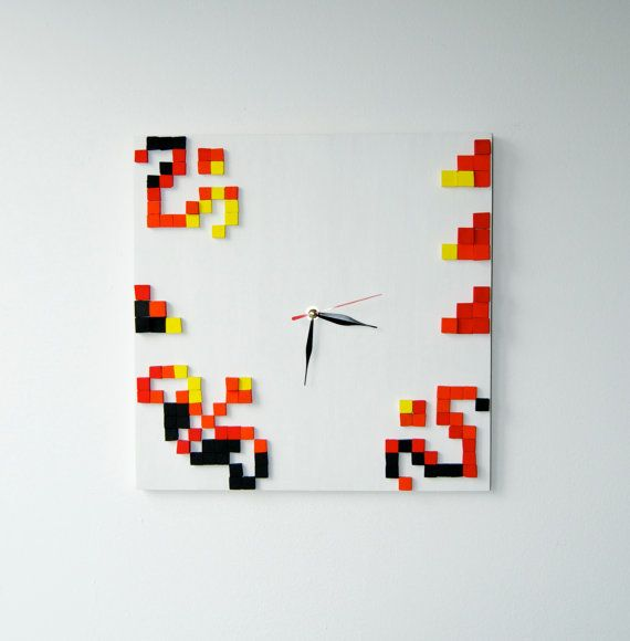 IE Tulips / Wood wall clock / Romanian authentic by DecoBoxRo