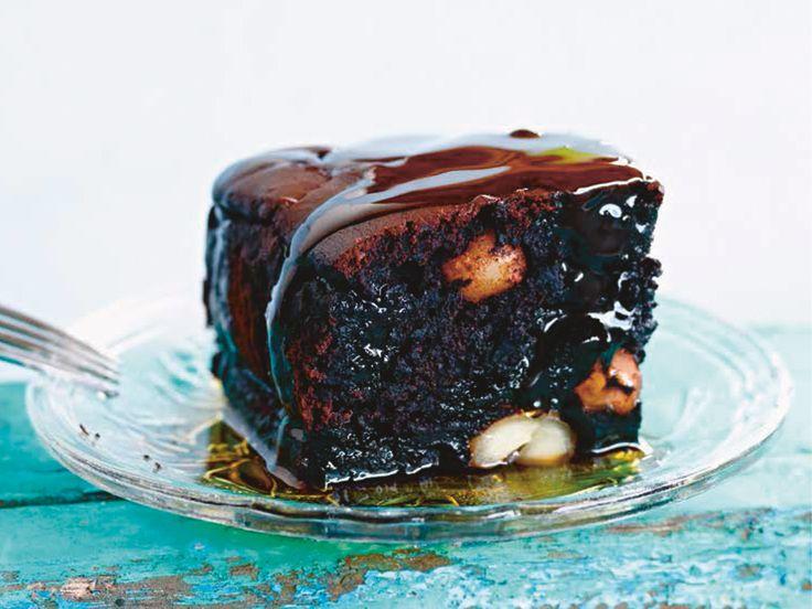 Macadamia-Ahornsirup-Brownies