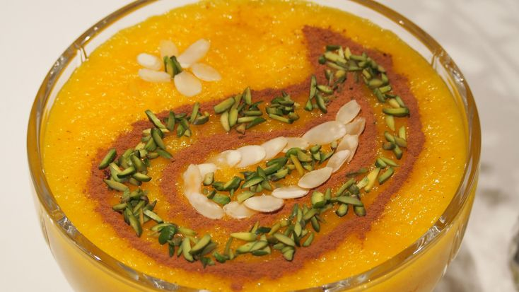 Persian Saffron Rice Pudding (Sholeh Zard): Serves: 7 1 cup Jasmine rice 8 cups water 2 cups white sugar 1/2 tsp saffron, dissolved in 2 tbsp. water 1/4 cup ...