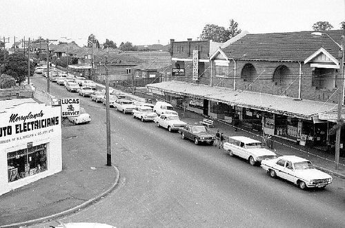 Last day of Merrylands level crossing, 1968 Photographer : Tony Maston