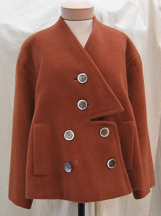 Coat.  Elsa Schiaparelli  (Italian, 1890–1973).  Date: 1949. Culture: French. Wool Silk Yum!