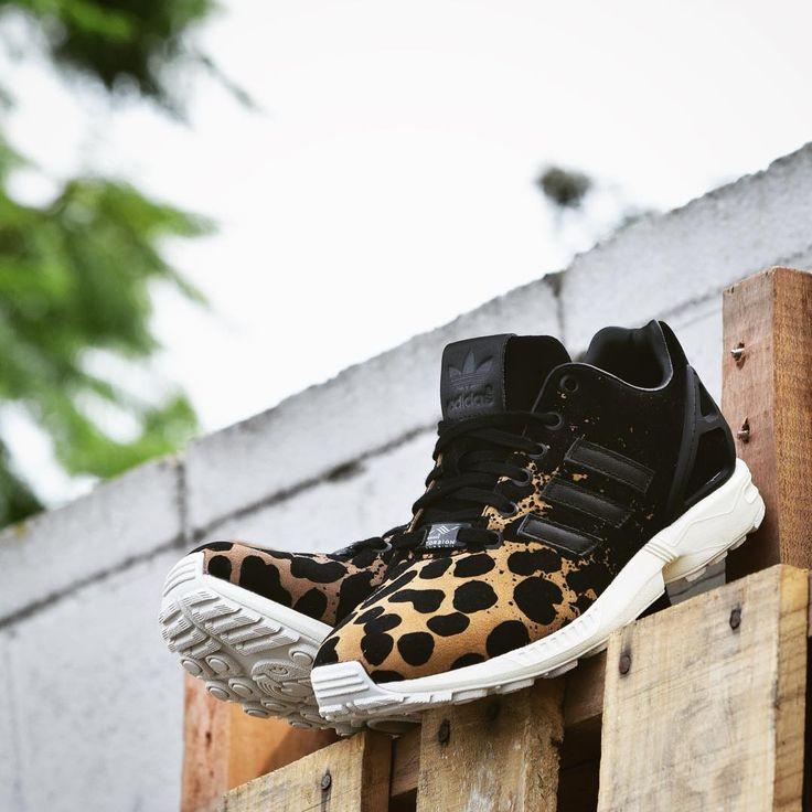 adidas originals women 39 s zx flux leopard splatter sneakers adidas zx flux pinterest. Black Bedroom Furniture Sets. Home Design Ideas