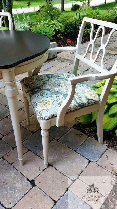 mid century painted dining set refinished and painted vintage dining rh pinterest es