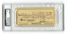 Mobster Joseph Bonanno signed check, PSA/DNA slabbed NM 7
