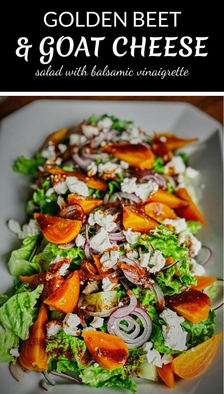 Golden Beet & Goat Cheese Salad