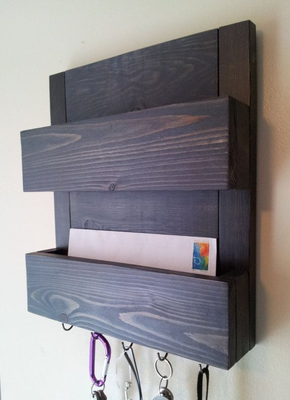 Mail And Key Rack Two Pocket Mail Organizer Mail And