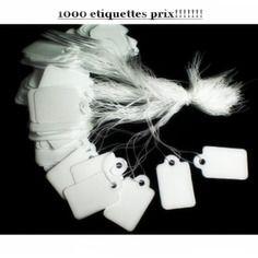 Etiquette -scrapbooking - papeterie - lot de 1000 étiquettes blanc