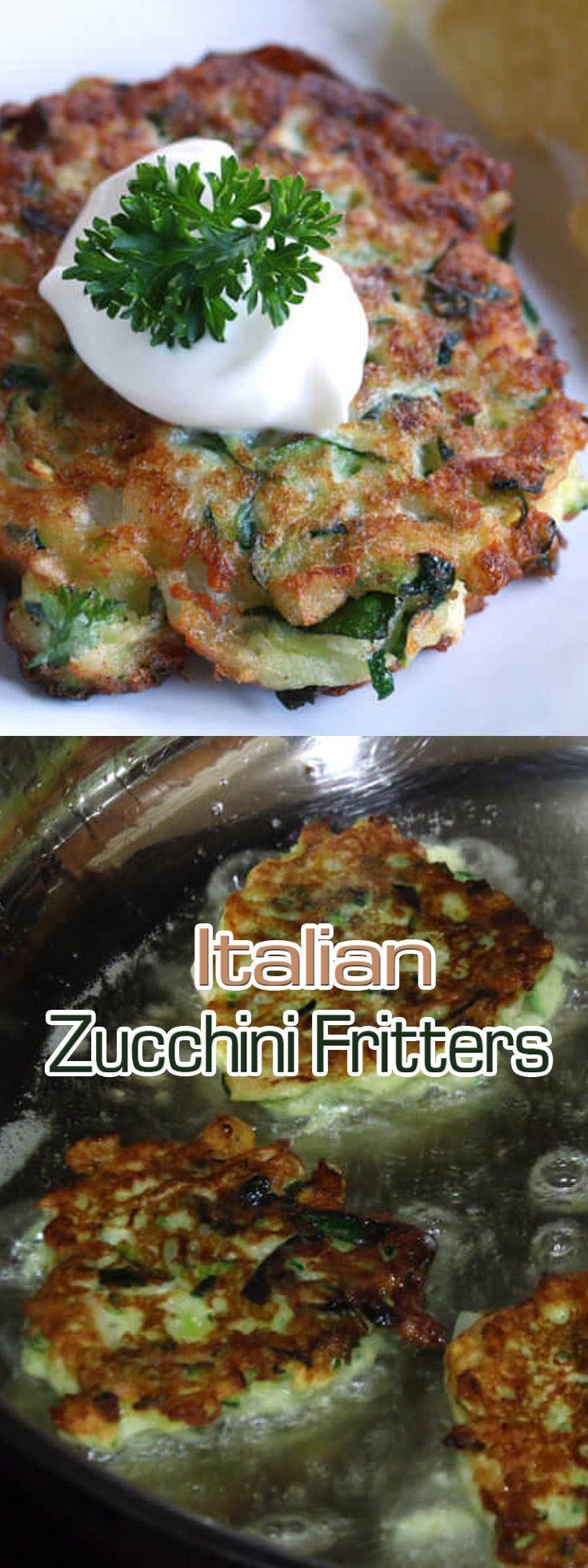 Italian Zucchini Fritters