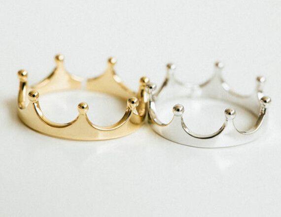 Simples coroa, Banhado a ouro 18 K anéis para mulheres em Anéis de Jóias & Acessórios no AliExpress.com | Alibaba Group
