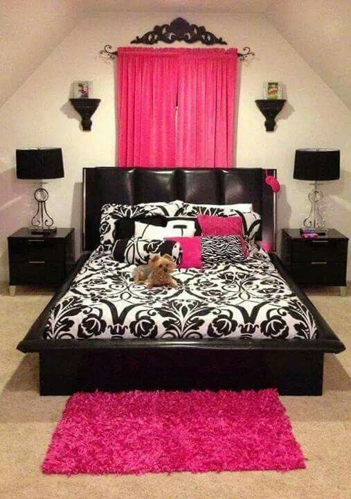Bed, nightstands,  lamps, for my Asian bedroom that is  red, black and gold (not this hot pink )